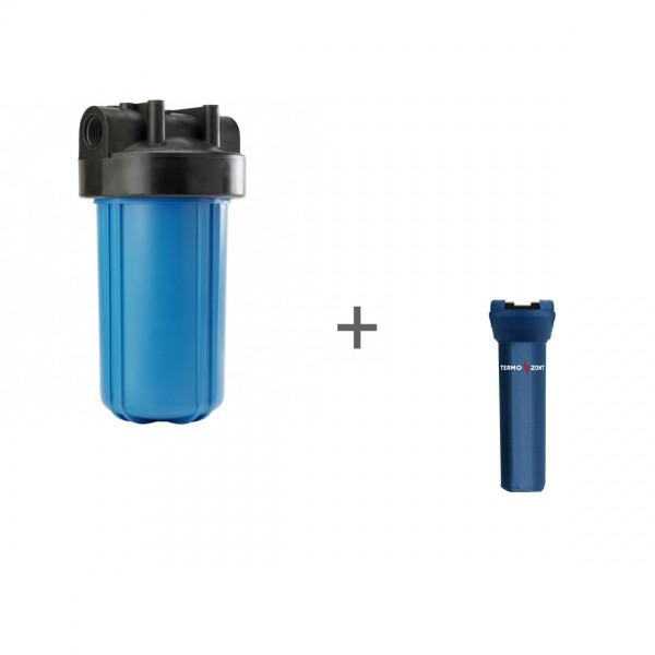 Корпус Big Blue 10, 1 (с кронштейном, без ниппелей) для холодной воды + Чехол TermoZont BB 10 для корпуса картриджного фильтра
