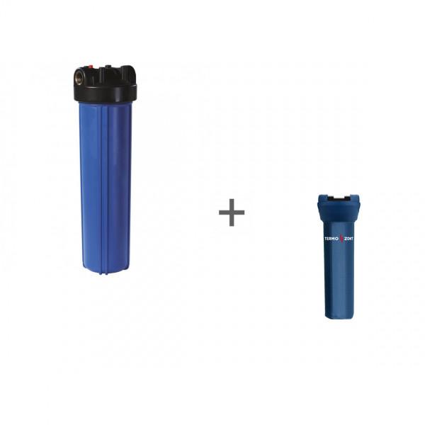 Корпус Big Blue 20, 1 (с кронштейном, без ниппелей) для холодной воды + Чехол TermoZont BB 20 для корпуса картриджного фильтра