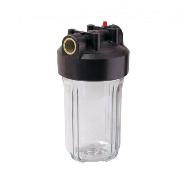 """Корпус Вig Вlue 10"""" прозрачный для холодной воды (кронштейн, латунные вставки)"""