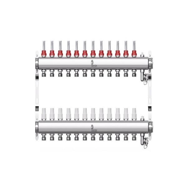 Коллектор нерж. Wester W902 1-3/4 в сборе с расходомерами на 12 выходов