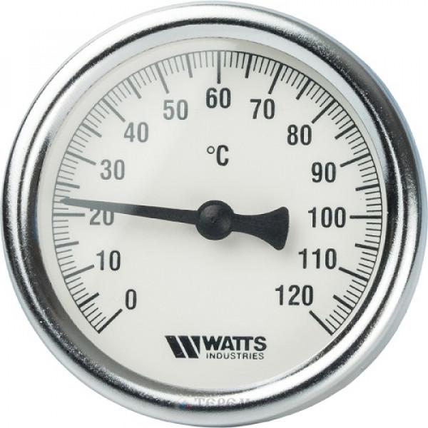 Термометр биметаллический Watts с погр. гильзой T 63/50