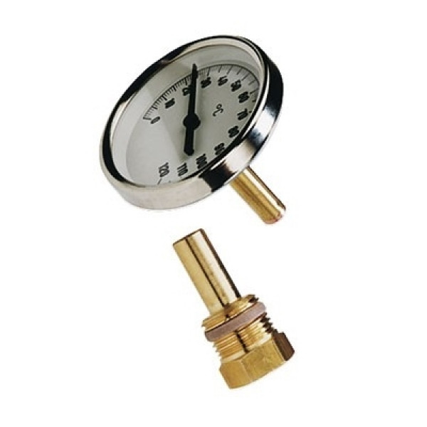 Термометр биметаллический Wester с погр. гильзой T 63/50